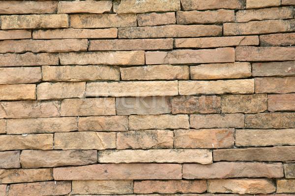 Taş modern tuğla duvar arka plan turuncu tuğla Stok fotoğraf © Pakhnyushchyy