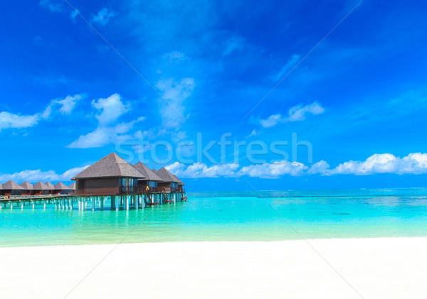 Plaj su gökyüzü doğa manzara yaz Stok fotoğraf © Pakhnyushchyy