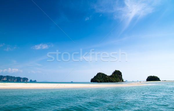 海 岩 クラビ 夏 海 青 ストックフォト © Pakhnyushchyy