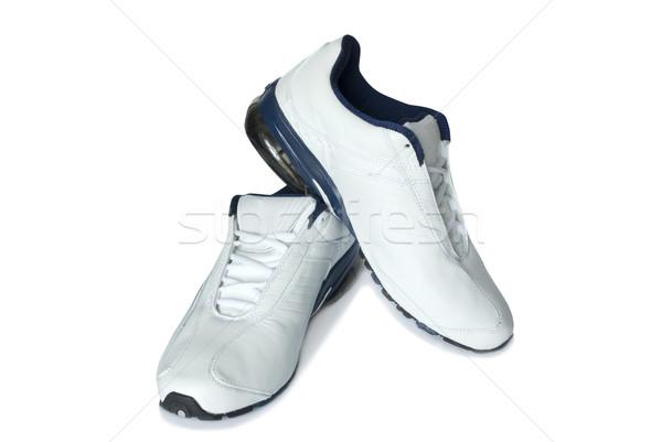 Zapatillas par blanco gimnasio zapatos formación Foto stock © Pakhnyushchyy