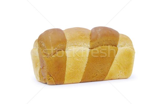 Pão pão isolado branco jantar café da manhã Foto stock © Pakhnyushchyy
