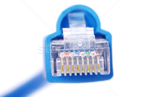 ケーブル マクロ ショット ネットワーク 接続 プラグイン ストックフォト © Pakhnyushchyy