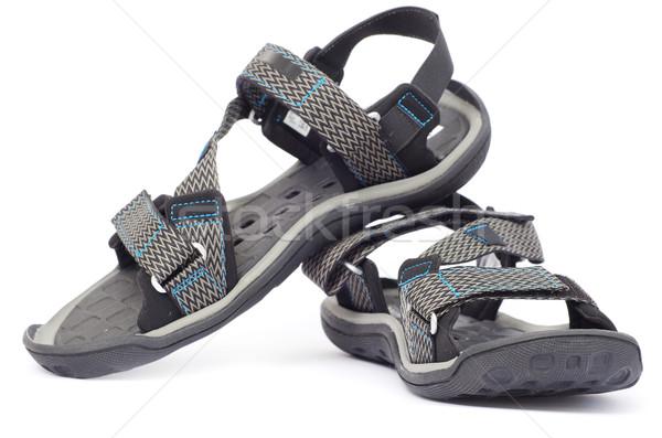 Sandalen geïsoleerd witte mode Blauw leuk Stockfoto © Pakhnyushchyy