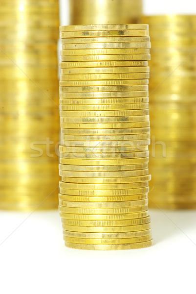 Hat Münzen isoliert Business Euro Dollar Stock foto © Pakhnyushchyy