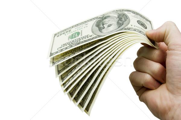 деньги рук изолированный белый бизнеса складе Сток-фото © Pakhnyushchyy