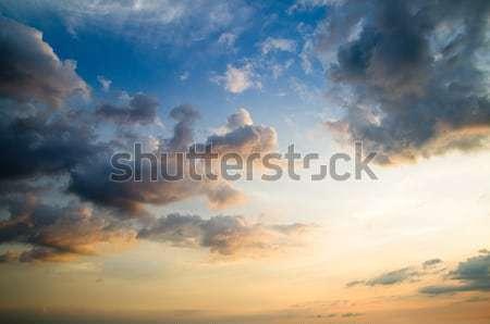 Nubi sole cielo bellezza spazio skyline Foto d'archivio © Pakhnyushchyy