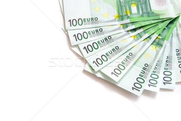 ユーロ 孤立した 白 ビジネス お金 ストックフォト © Pakhnyushchyy