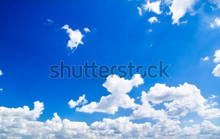 Cielo blu bianco nubi bellezza skyline libertà Foto d'archivio © Pakhnyushchyy