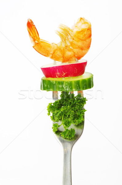 food on a fork  Stock photo © Pakhnyushchyy