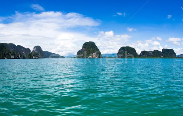 Mar krabi isla agua paisaje océano Foto stock © Pakhnyushchyy