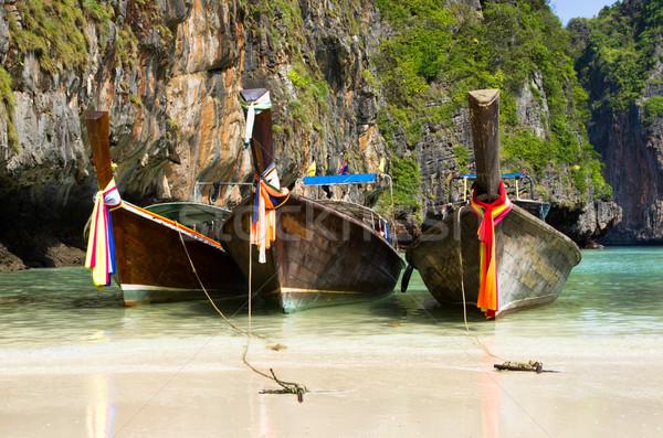longtail boats, Andaman Sea Stock photo © Pakhnyushchyy