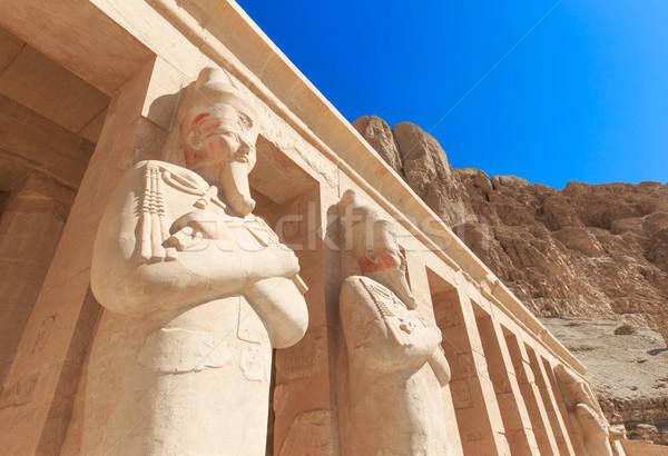Templom Luxor Afrika szobor történelem szobor Stock fotó © Pakhnyushchyy