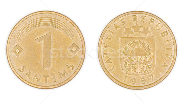 coin of Latvia  Stock photo © Pakhnyushchyy