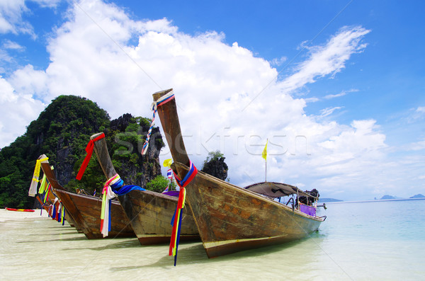 boats in Andaman Sea Stock photo © Pakhnyushchyy