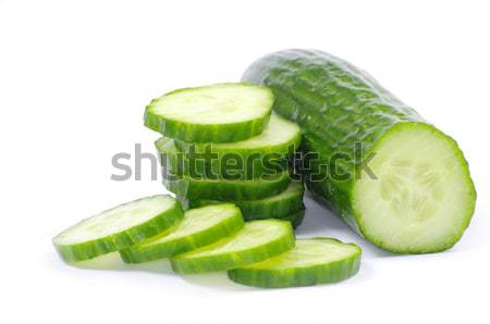 Komkommer komkommers witte eten vers dieet Stockfoto © Pakhnyushchyy