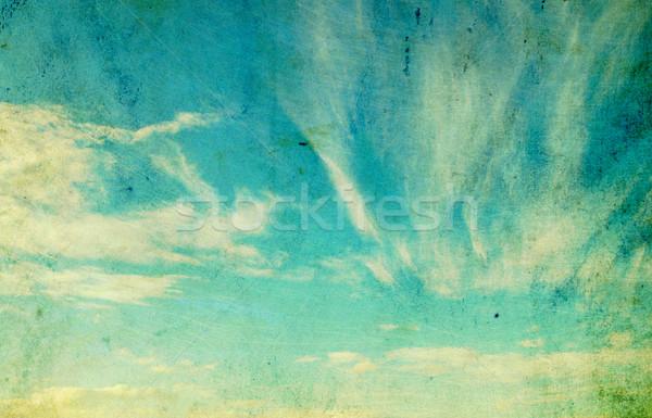 Retro nubi muro abstract natura panorama Foto d'archivio © Pakhnyushchyy
