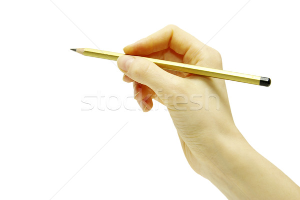 hand with pencil  Stock photo © Pakhnyushchyy