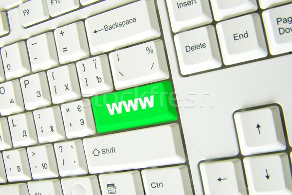 Сток-фото: зеленый · интернет · ключевые · бизнеса · компьютер