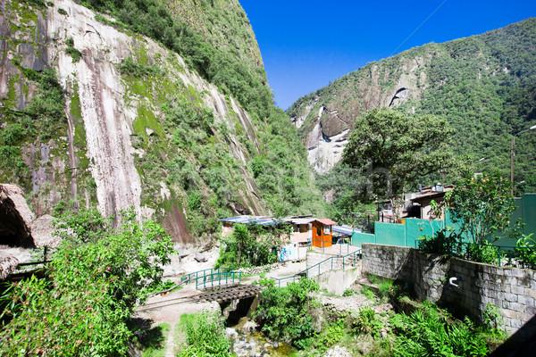 Trilho trem viajar turista turismo tour Foto stock © Pakhnyushchyy