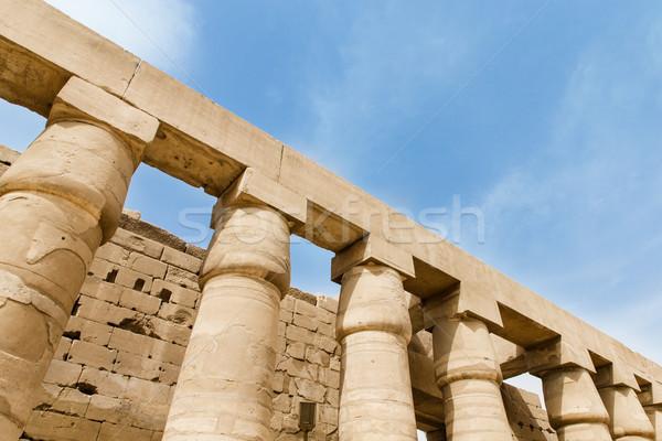 Tempel luxor reizen bank geschiedenis ruines Stockfoto © Pakhnyushchyy