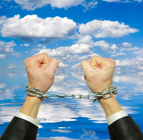 hands in chain Stock photo © Pakhnyushchyy