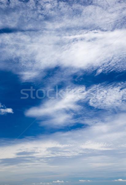 Blauwe hemel wolk hemel zomer Blauw Stockfoto © Pakhnyushchyy
