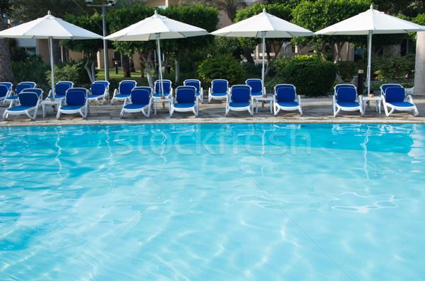 Stock photo:  swimming pool in hotel