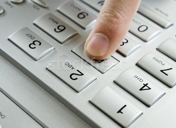 finger presses figure Stock photo © Pakhnyushchyy