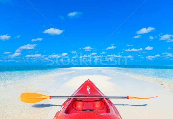 тропический пляж природы пейзаж морем океана синий Сток-фото © Pakhnyushchyy