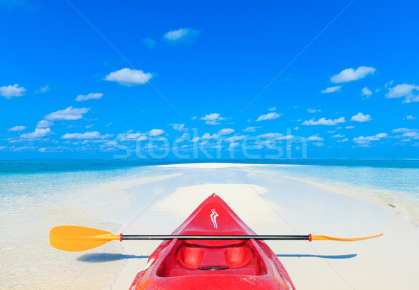 Tropikal plaj doğa manzara deniz okyanus mavi Stok fotoğraf © Pakhnyushchyy