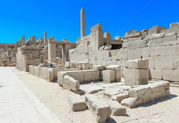 Ancient ruins of Karnak temple in Egypt Stock photo © Pakhnyushchyy