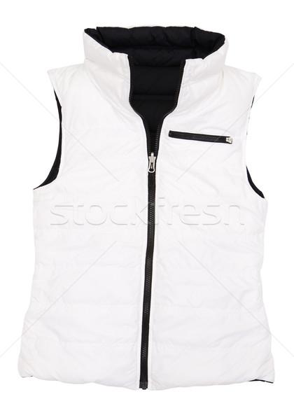 Сток-фото: жилет · изображение · куртка · белый · фон · спортивных