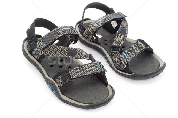 Sandálias isolado branco moda azul diversão Foto stock © Pakhnyushchyy