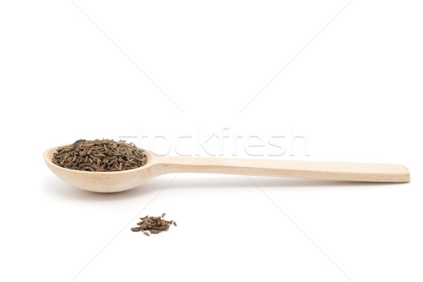 Kimyon tohumları baharat ot kahverengi Stok fotoğraf © Pakhnyushchyy