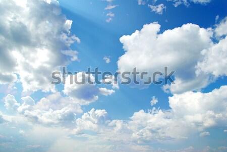 Blauwe hemel wolken zon schoonheid ruimte skyline Stockfoto © Pakhnyushchyy