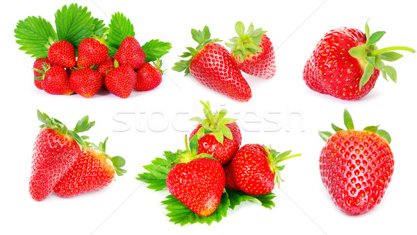 Strawberry set Stock photo © Pakhnyushchyy