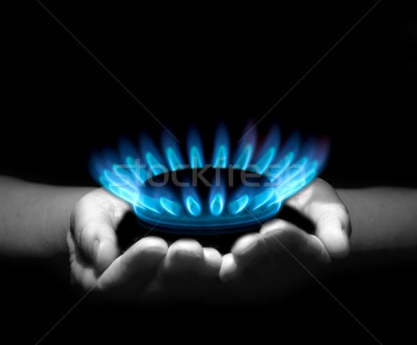 gas in hands Stock photo © Pakhnyushchyy