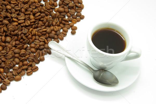 white cup with coffee  Stock photo © Pakhnyushchyy