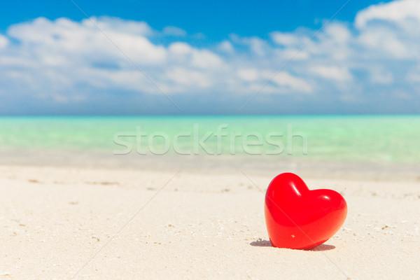 сердцах тропический пляж небе воды природы океана Сток-фото © Pakhnyushchyy