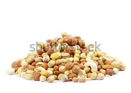 混合した ナッツ 白 食品 健康 グループ ストックフォト © Pakhnyushchyy