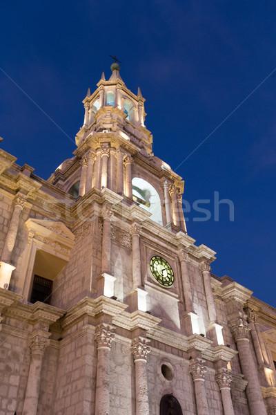 Ver catedral principal igreja manhã azul Foto stock © Pakhnyushchyy