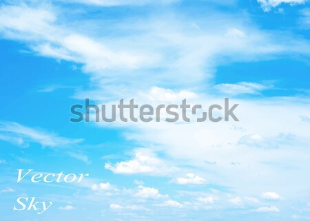 Blanco mullido nubes arco iris cielo azul cielo Foto stock © Pakhnyushchyy