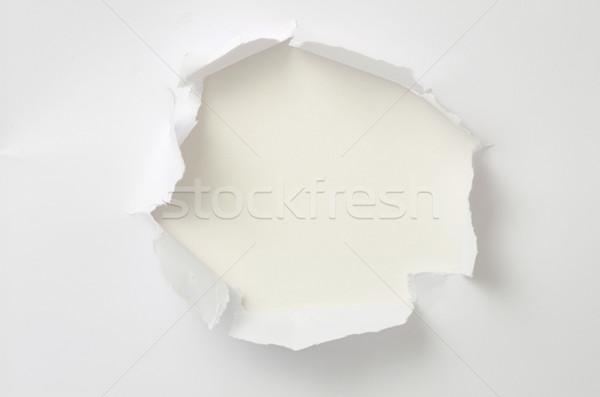 рваной бумаги пространстве стены аннотация знак черный Сток-фото © Pakhnyushchyy