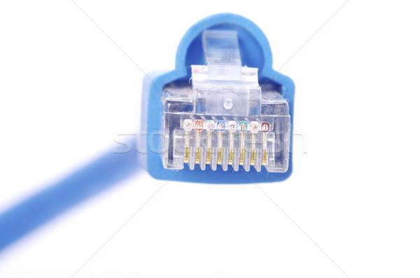 接続 プラグイン マクロ ショット ネットワーク ビジネス ストックフォト © Pakhnyushchyy