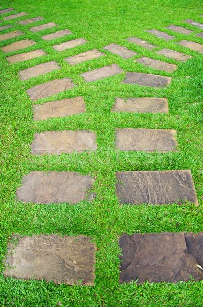 Stock photo:  stone path