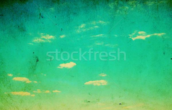 Foto d'archivio: Retro · cielo · texture · nubi · muro · abstract