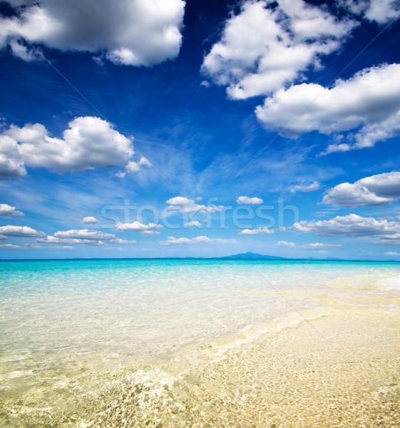 Wolken blauwe hemel hemel zomer Blauw Stockfoto © Pakhnyushchyy