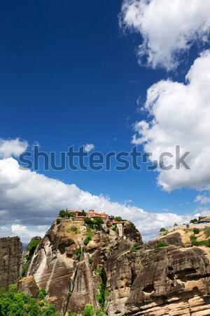 rock in Meteora Stock photo © Pakhnyushchyy