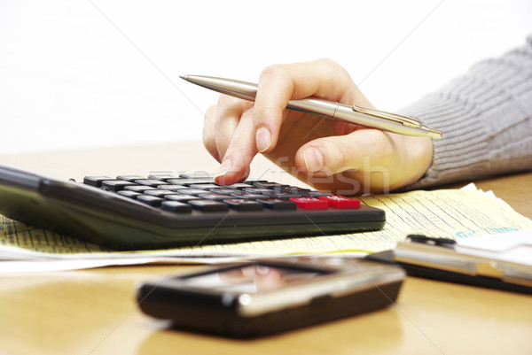 pen and calculator Stock photo © Pakhnyushchyy