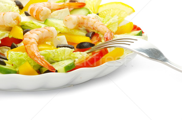 salad in plate Stock photo © Pakhnyushchyy